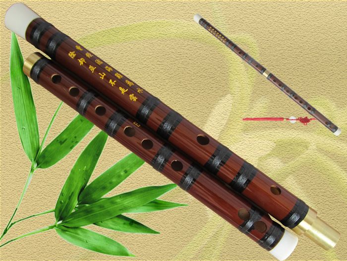 Chinese Natural bitter bamboo flute musical instrument C D E F G Key pan hulusi transverse