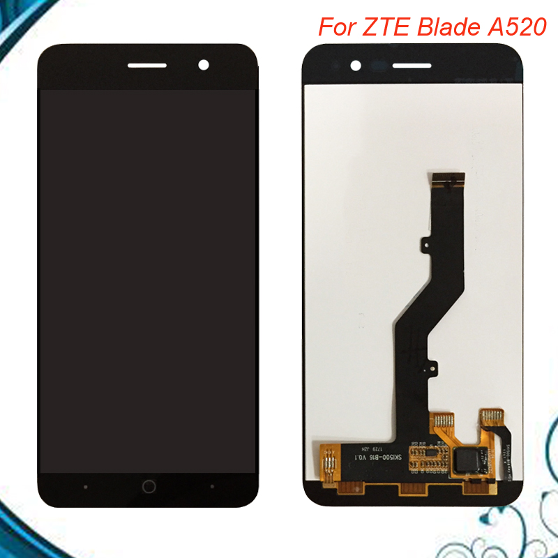 Top Quality For <font><b>ZTE</b></font> <font><b>Blade</b></font> <font><b>A520</b></font> LCD Display+Touch <font><b>Screen</b></font> 100% Tested <font><b>Screen</b></font> Digitizer Assembly Replacement For <font><b>ZTE</b></font> <font><b>A520</b></font> IN Stock image