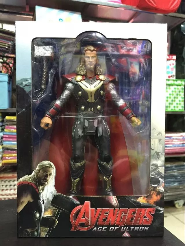 Avengers Age of Ultron Thor PVC Action Figure Collectible Model Toy 9 23cm Retail Box WU066 god of war ghost of sparta kratos pvc action figure collectible model toy 22cm christmas gifts