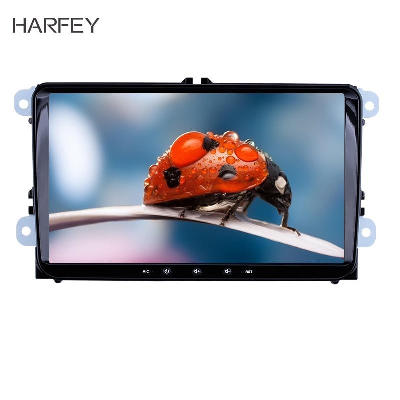Harfey 2Din Android 8.1 pour VW/Volkswagen/Golf/Polo/Tiguan/Passat/b7/b6/leon/Skoda/Octavia autoradio GPS lecteur multimédia de voiture