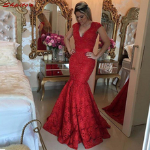 Red Lace Mermaid Mother of the Bride Dresses
