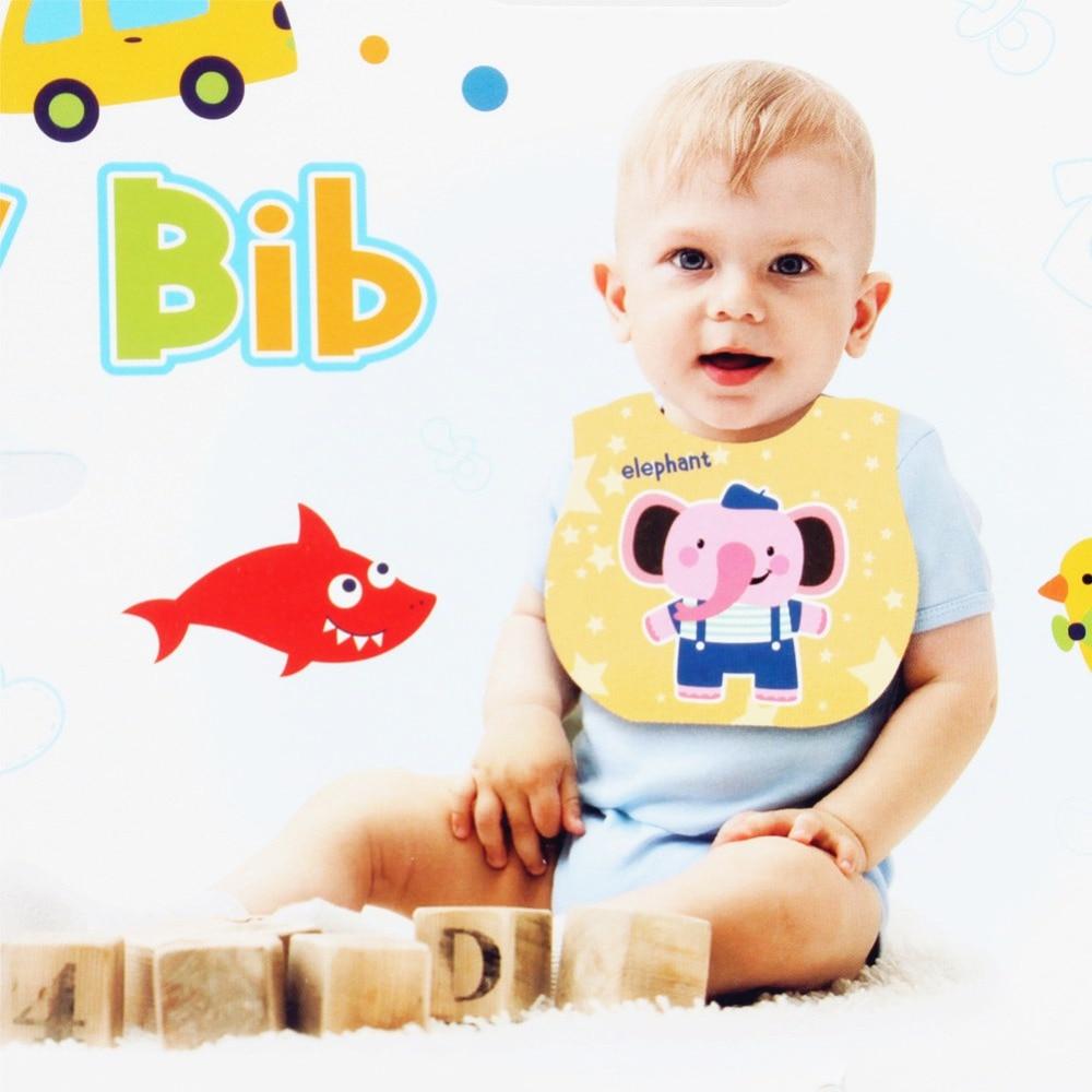 Detachable Baby Bibs EVA Plastic Waterproof Infant Apron Towels For Kids Feeding Cartoon Baby Bibs Accessories Stuff