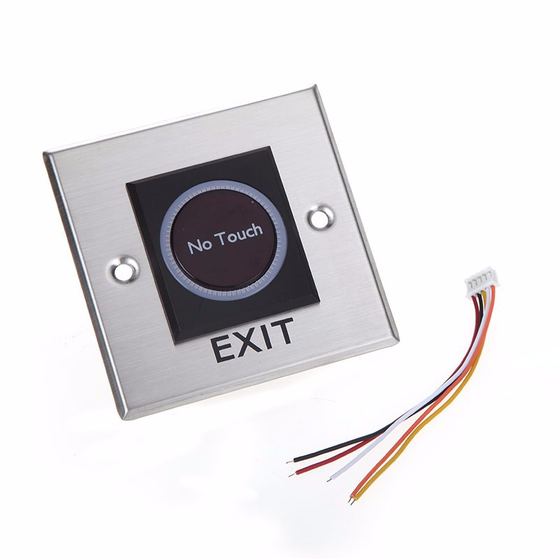 Exit Button Infrared No Touch Exit Button Sensor Switch with LED Indication exit