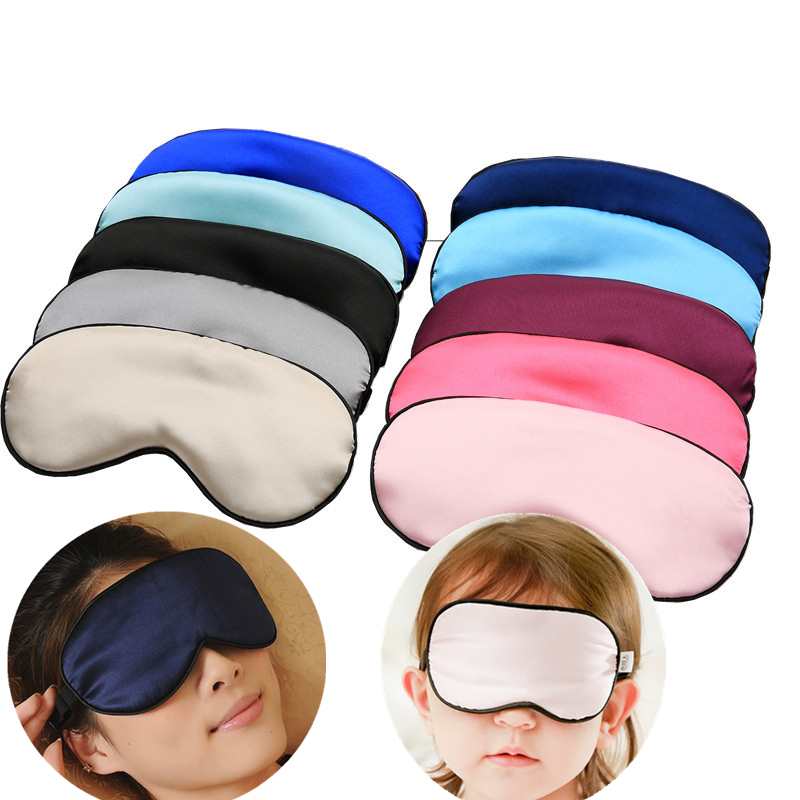 Silky Eye Mask Eyelash Style Travel Shade Cover Rest Relax Sleep Blindfold