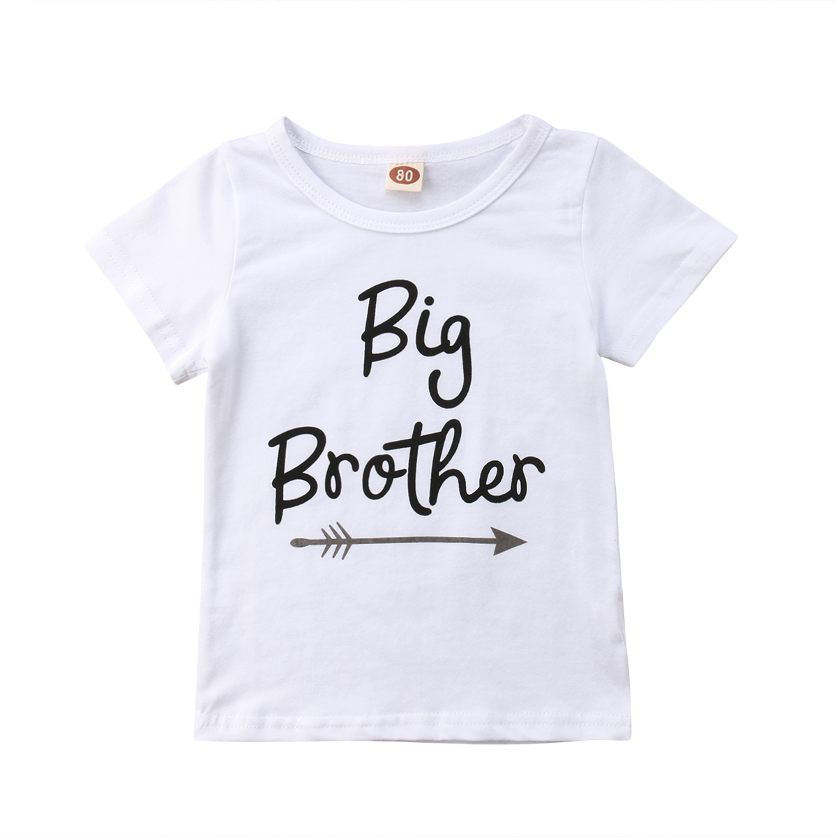 Baby Little Sister Romper Big Brother T-Shirt Clothes Outfits baby kids girls little big sister cotton clothes jumpsuit romper outfits t shirt flower print children girl clothing set