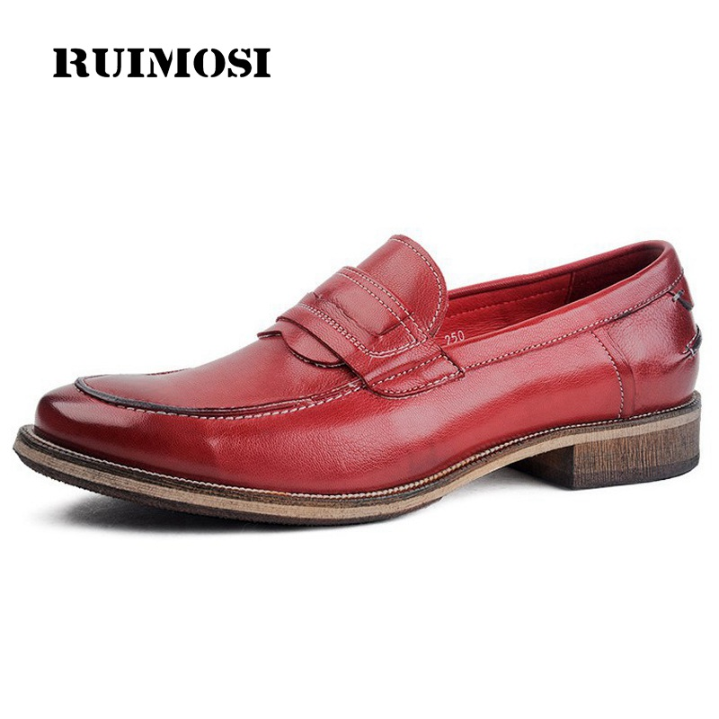 RUIMOSI High Quality Luxury Man Casual Shoes Genuine Leather Comfortable Loafers Basic Designer Brand Men's Boat Flats EI56