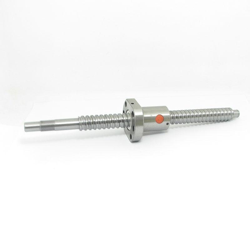 20mm 2010 Vis À Billes Laminés C7 vis à billes SFU2010 2000mm BK15 BF15 fin traitement d'un 2010 bride unique balle écrou pour CNC pièces