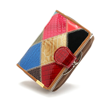 2018 Hot New Fashion Style Famous Woman Mini Wallet Leather Short Ladies Wallets Zipper Coin Bag Buckle Purse And Card Holder