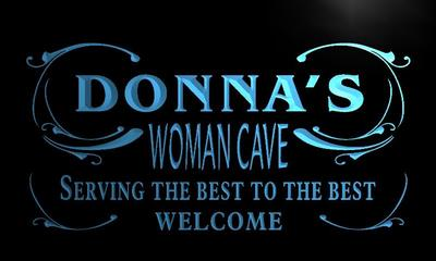 x2017-tm Donnas Woman Cave Room Custom Personalized Name Neon Sign Wholesale Dropshipping On/Off Switch 7 Colors DHL