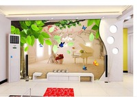 Non Woven Roll Wall Decoration Butterfly Tree Landscape Photo Wallpaper Custom Wallpaper TV Setting Wall Of