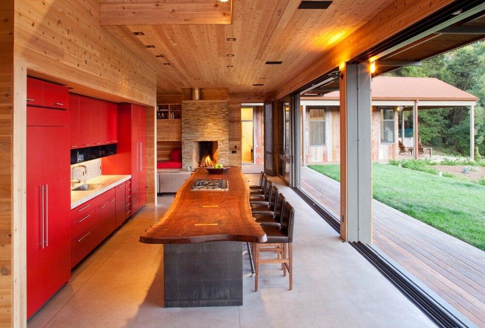 2017 ventas calientes alto brillo lacado gabinetes de cocina de color blanco moderno 2PAC muebles de cocina despensa L1606075