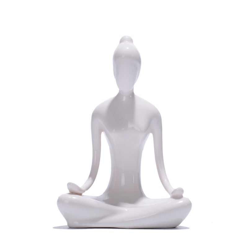 Free shipping 12 kinds Ceramic Home Decor Yoga Girl Ornament Modern Minimalist Furnishing Abstract Figures Decoration Crafts