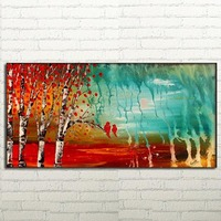 Hand Painted LANDSCAPE Art for Sale Modern Birch Tree oil painting abstract oil painting fine art