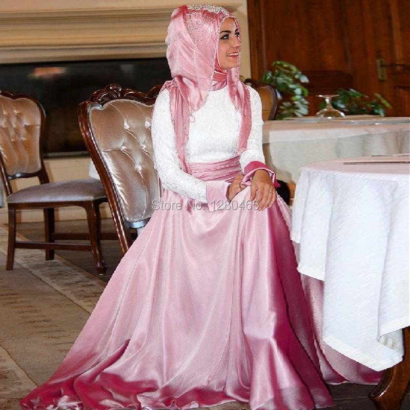 Dubai Kaftan manga larga vestido de noche árabes vestidos de noche ...
