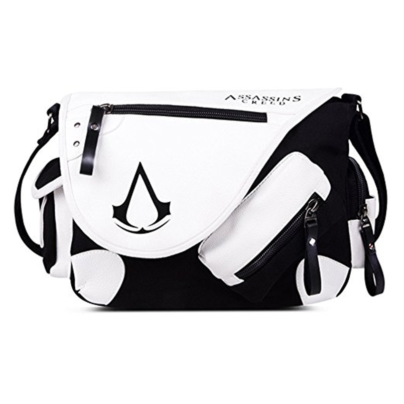 Assassin's Creed Canvas Shoulder Bag,Anime Style Cosplay Message Sling Bag Messenger bag for men and women free ship gou matsuoka long wine red women style anime cosplay wig one ponytail 370f