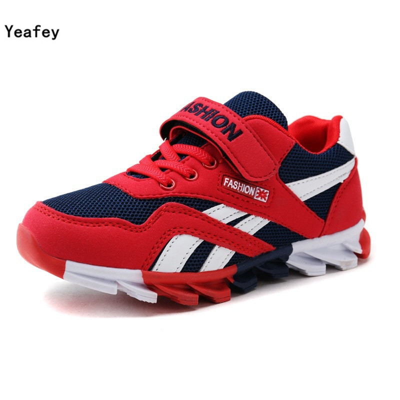 Yeafey Boy Sneakers Children Kids Red Name Brand Shoes Eur