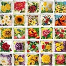 Цветы стиль вышивка крестом подушки детские коврики DIY Craft гобелены 40x40 см рукоделие крючком вышивка