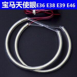 Image 2 - CCFL Kit dyeux dange blanc de 131mm * 4, pour BMW E36 E38 E39 E46 (avec projecteur Original)