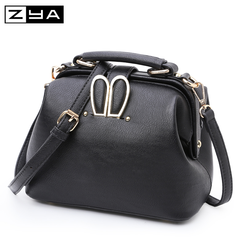 high Quality Leather Women Messenger Bag Crossbody lady Bags rabbit Ear Shoulder Bag Famous Brand Women