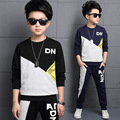 2017 Spring Boys Clothes Pullover Teenager School boys Sport Suit Boys Children Clothing Sets 4-15 years Kids Clothes Tracksuit