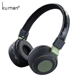 Kuman Sports Headsets Stereo Wireless Headphones HIFI Bluetooth Earphone with 3.5mm Conversion Line For Phone PC Gaming YL-HH5