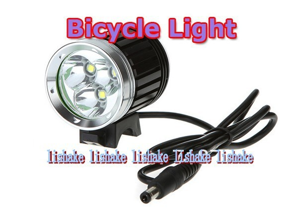 XML T6 Bicycle Light 4 Mode Bicycle Front Light 3600 Lumens Rechargeable LED Bike Lights + 8.4V Battery Pack+Charger