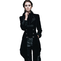 Steampunk Women's Spring Jacket Autumn Gothic Female Coat Long Sleeve Windbreaker Mujer British Patterns Womens Jackets