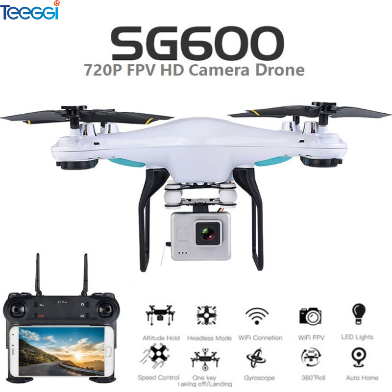 Teeggi SG600 RC Drone with 2MP or 0.3MP HD Camera FPV Quadcopter Dron Altitude Hold Helicopter VS VISUO XS809HW SYMA X5C Drone