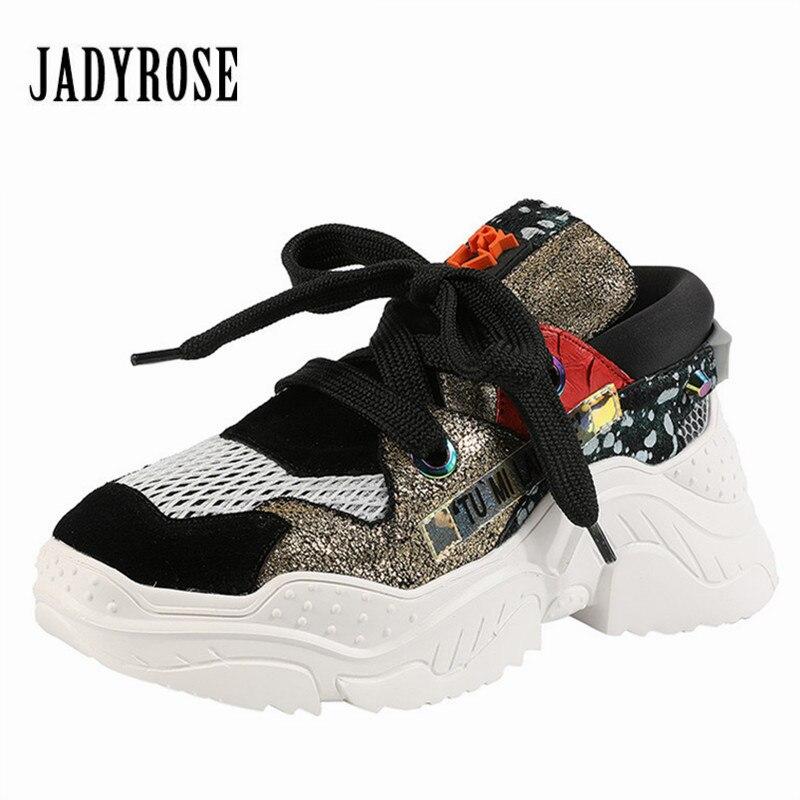 Femme Zapatos Sneakers Creepers Rose Formateurs Dames Décontracté Femmes Espadrilles À Compensées Jady Appartements Mujer Respirant Semelles Chaussures Or argent zMUSVp