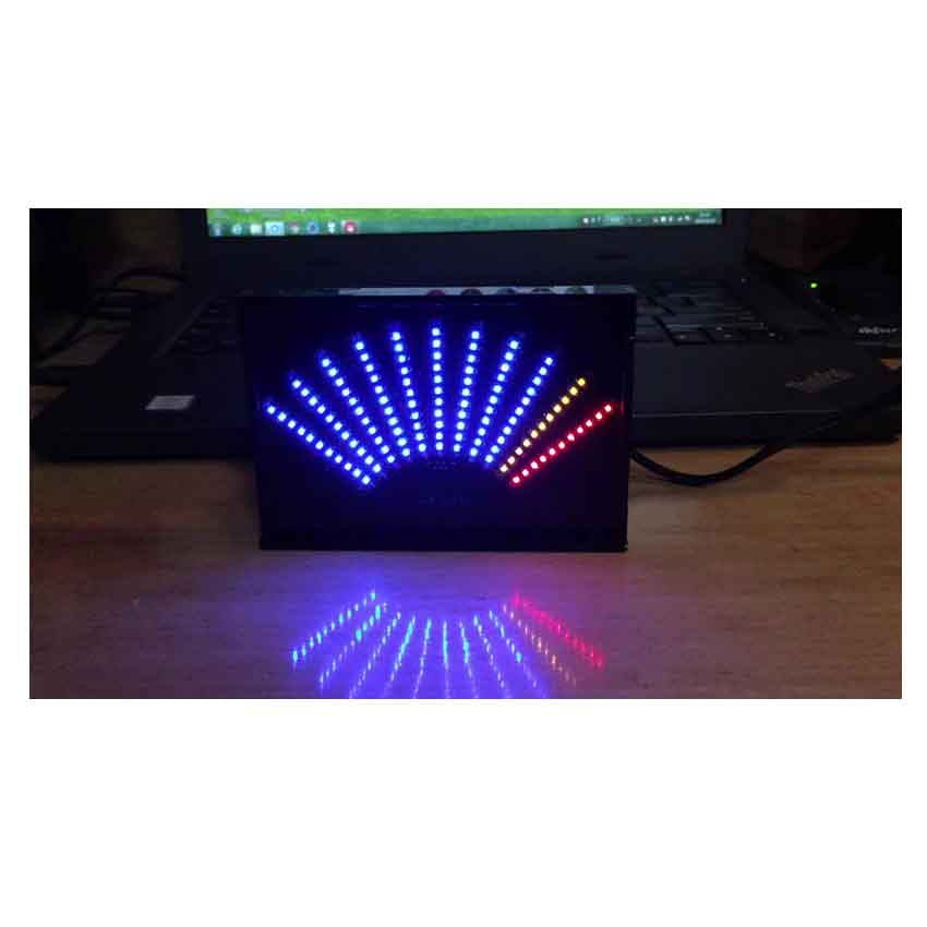 CNIKESIN DIY Sound Music Spectrum Analyzer Sector Pointer LED Music Spectrum Electronic DIY Led Flash Kit With Shell