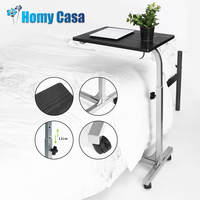 HOMY CASA Adjustable Laptop table desk laptop stand Wodern bedside table Tray Stand for bed table