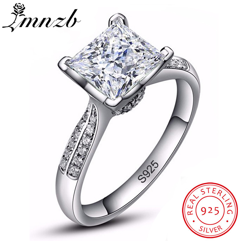 LMNZB Luxury 2.5 Carat Solid 925 Sterling Silver Halo