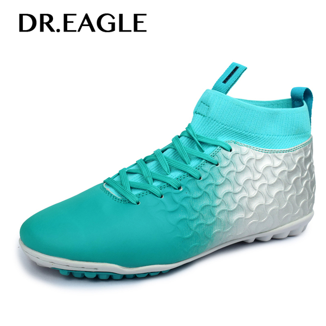 92f115fed Indoor football shoes with ankle Footballs futsal boots 2018 sneakers  soccer shoes for man sport boot ankle sock cotton sock