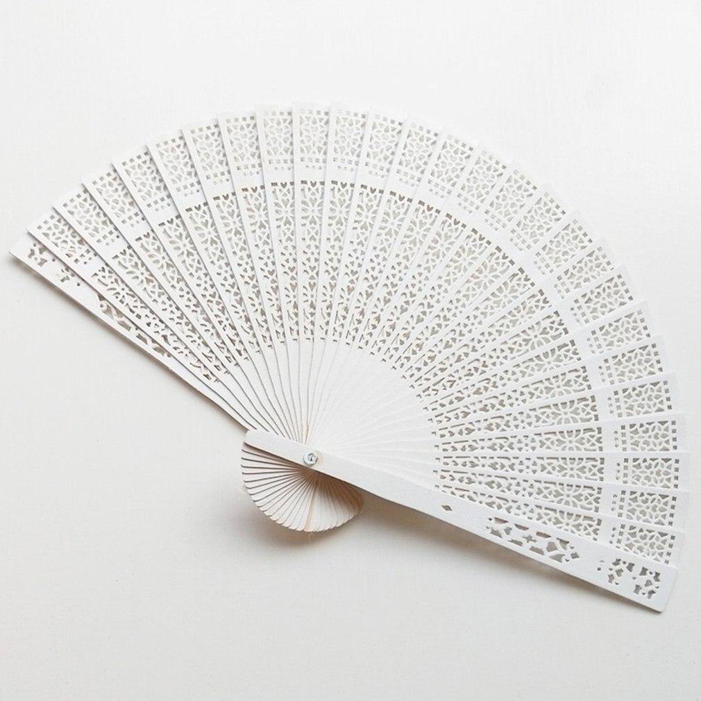 Foldable Fan Hand Held Fan Summer Outdoor Travel Cooling Fans Fragrant Wood