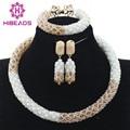 Gorgeous blanco y oro africano choker necklace set joyería de la boda africana de eventos del partido de dama de honor envío gratis wd928