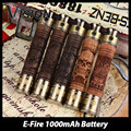 Clearance! Vision E-Fire Wood Spinner Battery 1000mAh E-Fire Battery Adjust Voltage 3.3v to 4.8v E-fire Wooden Mod Vaporizer