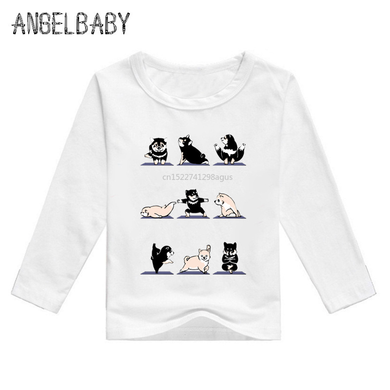 Gastfreundlich Jungen Und Mädchen Bulldog/mops/hund Fitness Print T Shirt Baby Cartoon Lustige Nette Kleidung Kinder Langarm T-shirt, Lkp2155
