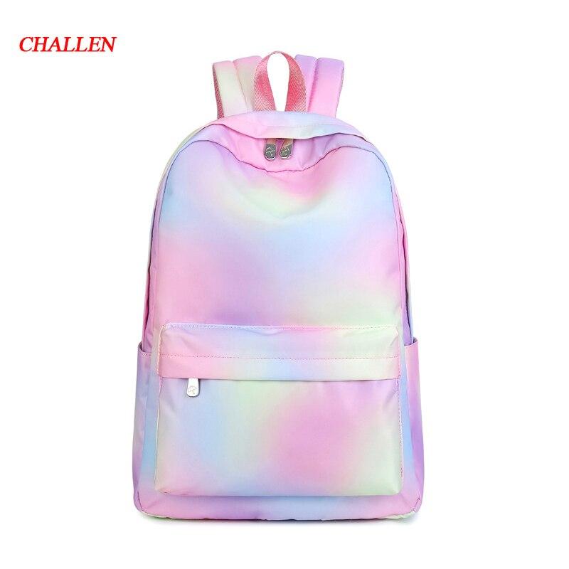 BIG SIZE Print Women Backpack Korean Preppy Teenager Girl School Bag Casual Ladies Travel Daily Bags Laptop Bag Packs