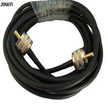 RG58 В переменного тока, 50-3 коаксиальный кабель PL259 UHF мужской UHF Мужской разъем адаптера РФ коаксиальный Ham Радио кабель 50ohm 50 см 1/2/3/5, 10 м, 15 м, 20 м