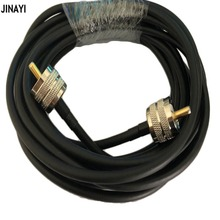 Cable Coaxial RG58 50 3 PL259 UHF macho a UHF macho adaptador de conector RF Coax Ham Radio Cable 50ohm 50cm 1/2/3/5m 10m 15m 20m