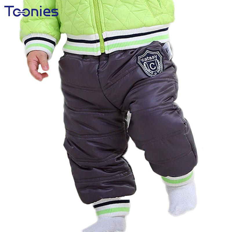 796cbb160 2017 Winter Baby Boys Pants Girls Leggings Sportswear Active Snow ...