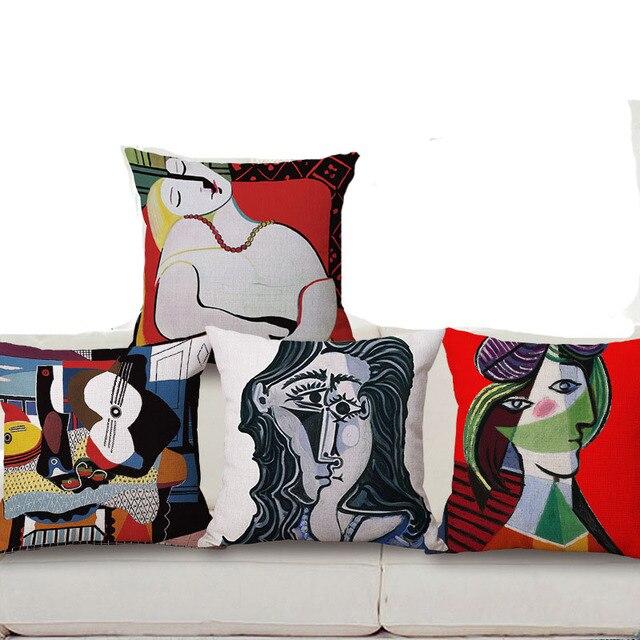 Di Fama mondiale Dipinti di Picasso Coshion Copre Un Lato Stampa Home Decor Diva