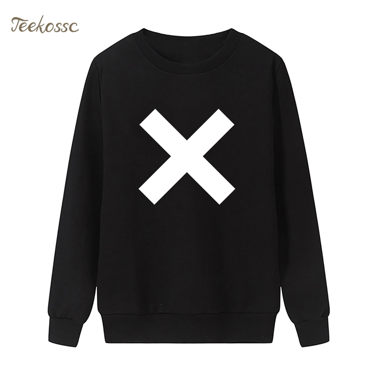 X Letter Sweatshirt Print Hoodie 2018 New Fashion Winter Autumn Women Lasdies Pullover Loose Fleece Casual Brand Clothing XXL