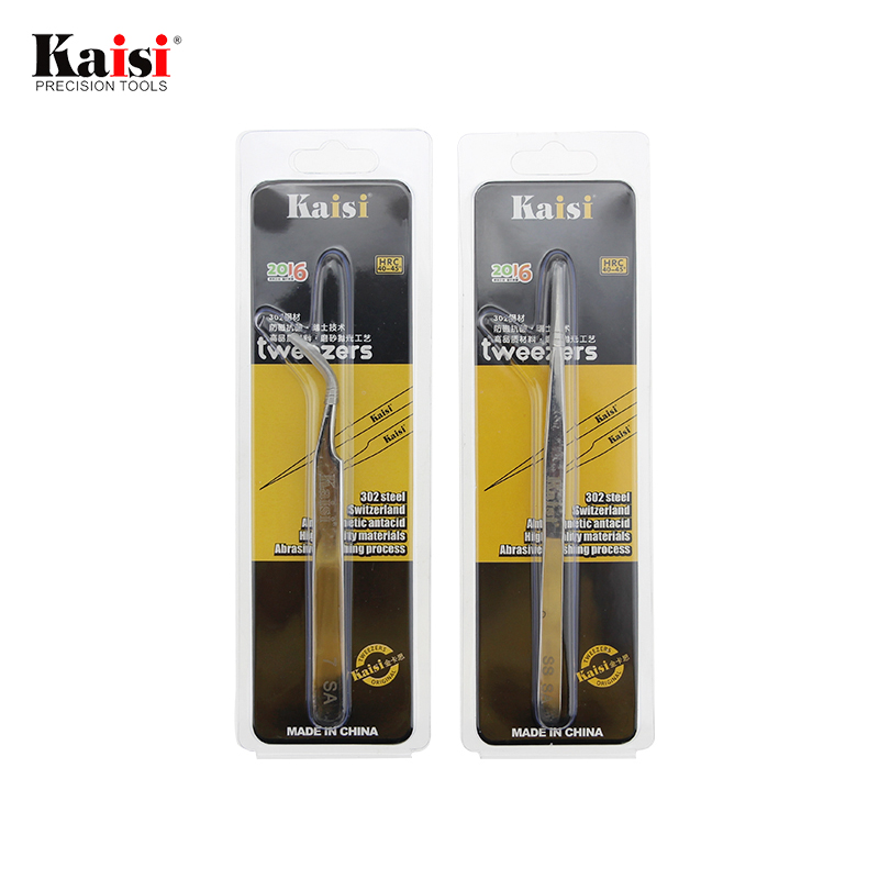Hand Tools Kaisi Precision Tweezers Stainless Steel Tweezer Tools Eye Lashes Eyelash Extension Tweezers Curve Pincet Eyelash Ss-sa 7-sa Bright In Colour Industrial Tweezers