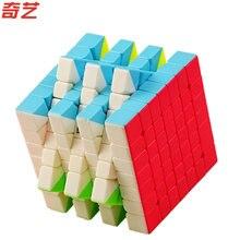 2018 Новый Qiyi S 7x7x7 Magic Cube Stickerless MoFangGe MFG QiXing Скорость Qiyi Cube конкурс игрушка для начинающих детей лучший подарок