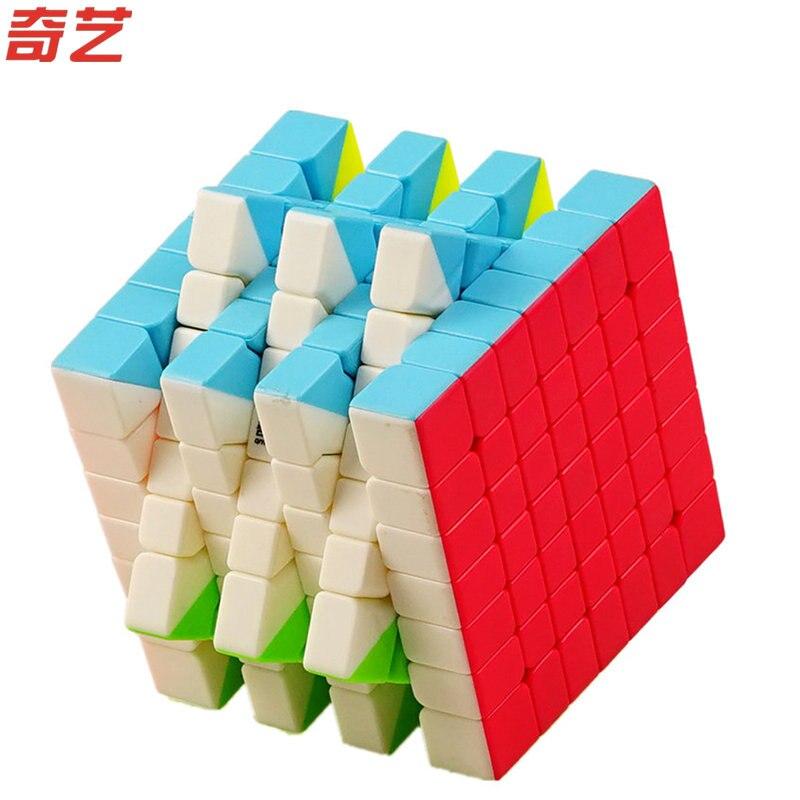 2018 Nouveau Qiyi S 7x7x7 Magic Cube Stickerless MoFangGe MFG QiXing Vitesse Qiyi Cube Concurrence Jouet pour Débutant Enfants meilleur cadeau