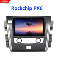 10.2 IPS Radio Auto Car Multimidia Android 9.0 PX6 for Nissan Patrol 2018 GPS Car Bluetooth Touch Screen 1024*600 4G RAM HDMI