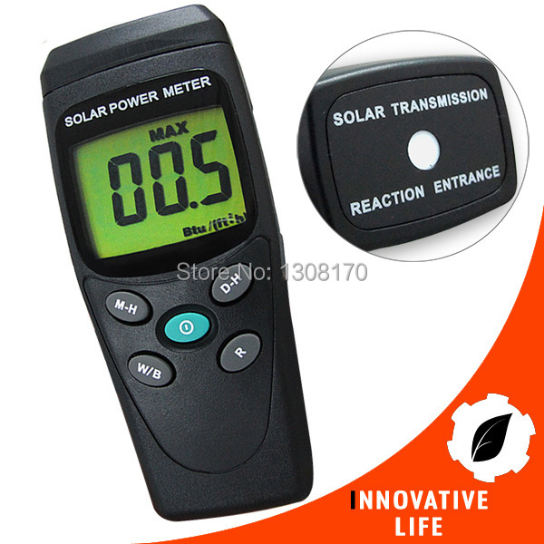 Digital Solar Power Meter Radiation Energy Cell 1999 W/m2 634 BTU/(ft2*h) Range Made in Taiwan Tester digital indoor air quality carbon dioxide meter temperature rh humidity twa stel display 99 points made in taiwan co2 monitor