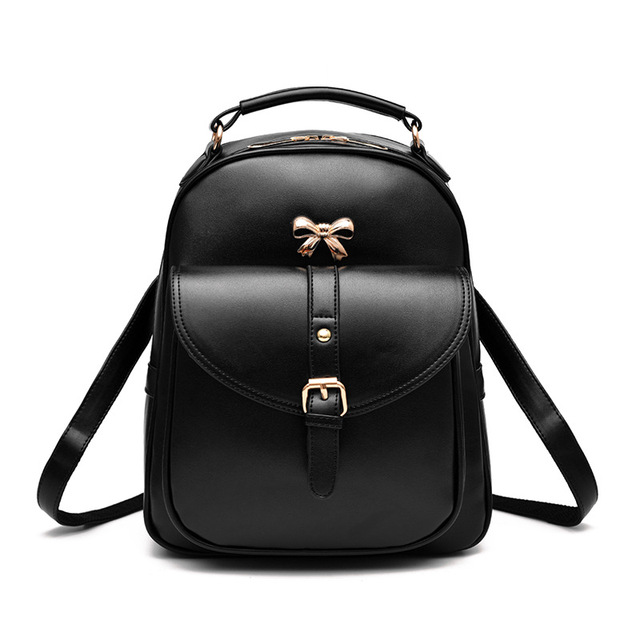 59fee57b0c07 Fashion black ladies Women s men backpacks shoulder double shoulder bags  Korean wave female bags college wind