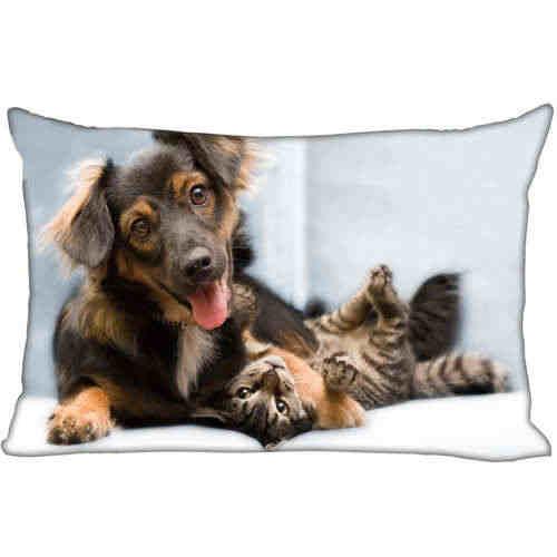 Kustom Terbaik Bantal Anjing (45) @ Kamar Tidur Rumah Persegi Panjang Ritsleting Sarung Bantal (Satu Sisi) @ 181205-05-04-193